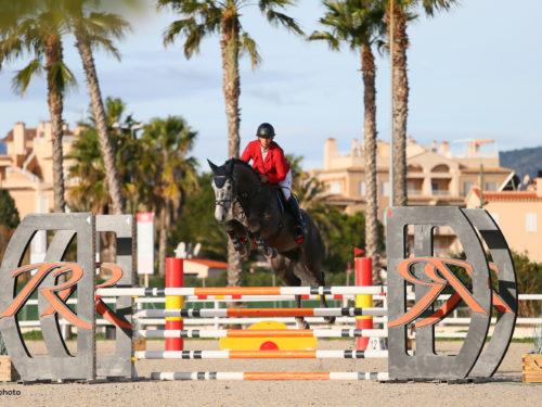 Oliva, Spain - 2021 January 27: CSIYH1, 5 years old, 1m20 during CSI Mediterranean Equestrian Spring Tour 1 (photo: 1clicphoto)